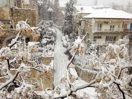Rare Snowstorm in Jerusalem.
