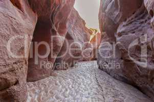 Inside of Buckskin Gulch Slot Canyon.