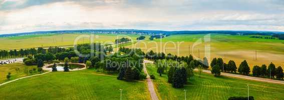 Panoramic rural area
