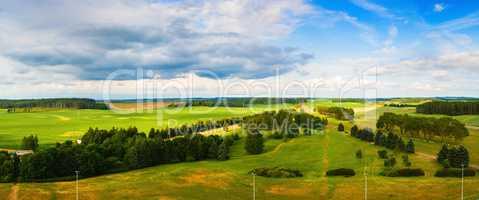 Panoramic summer landscape