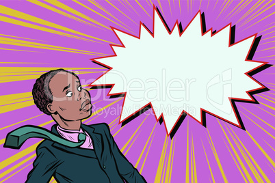 surprised man businessman pop art