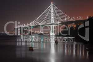 San Francisco-Oakland Bay Bridge Eastern Span at Night.