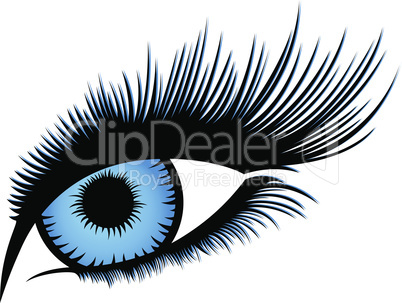 Abstract human eye with long eyelashes