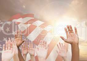 Hands up for independence day
