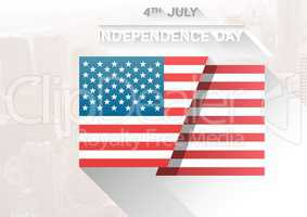 composite image of the american flag for the independence day