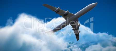 Composite 3d image of airplane