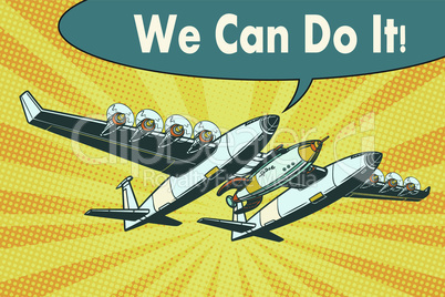 Airplane to send rockets into space we can do it