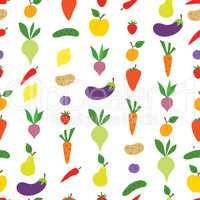 Vegetable seamless pattern. Healthy food ingredient background