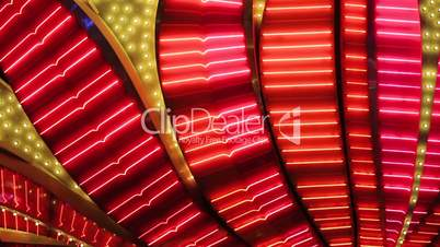 Neon flashing lights of Las Vegas Casino