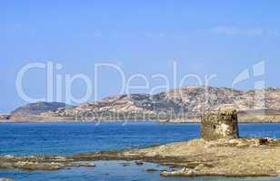 Amazing view of the famous La Pelosa in Sardinia, Italy