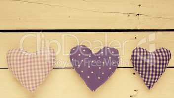 Fabric heart shapes