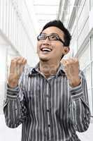 Success winner Asian businessman