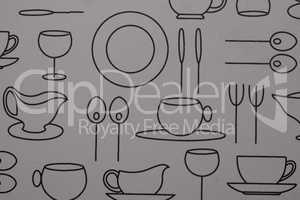 Closeup plastic table placemat