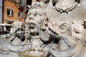 The Fontana del Pantheon, Piazza della Rotonda (Rome, Italy)