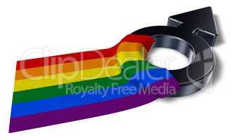 Gay Pride Flagge und symbol für männlich