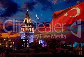 Turkish Galata Tower