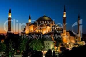 Illuminated Hagia Sophia