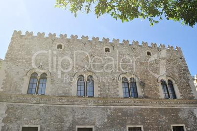 facade of Palazzo Corvaia in Toarmina, Sicily