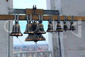 Bells in church belltower