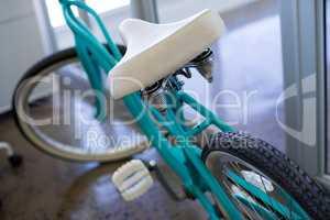 Bicycle near office door