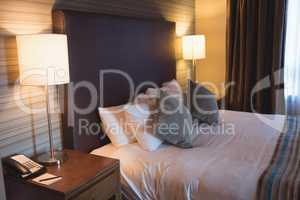 Empty modern bedroom