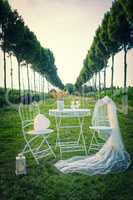 nice wedding decoration for outdoors