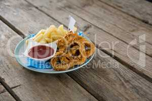 French fries with Onion rings