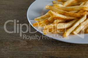 French fried chips in plate