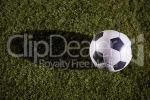 High angle view of soccer ball