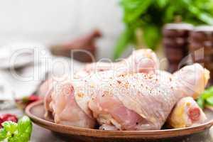 Raw chicken legs, drumsticks