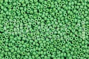 Green glass beads.