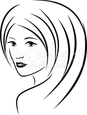 Abstract attractive young women portrait