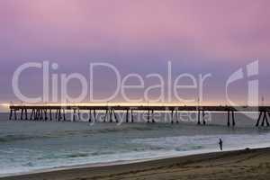 Pacifica Municipal Pier Sunset.