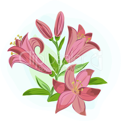 beautiful gift card with orange lilies