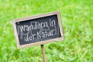 Wandern in der Natur - Kreidetafel Wanderung
