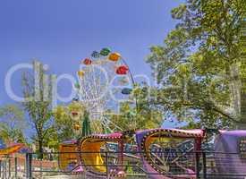 Amusement Park: Ferris wheel and carousel.