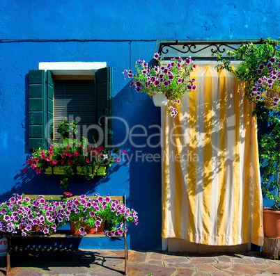 Blue house on Burano