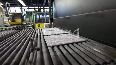 Print patterned ceramic tile, pattern on ceramic tiles. Industrial interior