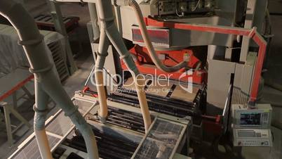 Manufacture of ceramic tiles, Automated line for the production of ceramic tiles