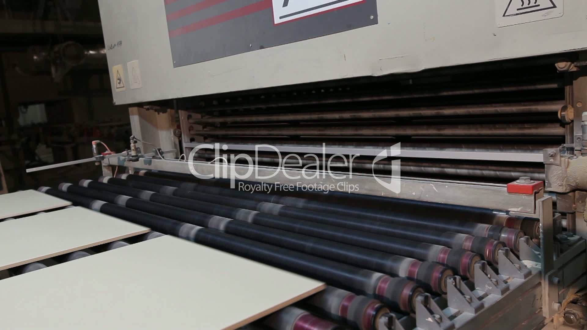 Manufacture Of Ceramic Tiles Automated Line For The Production Of