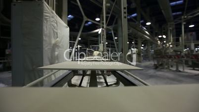 Ceramic tiles, ceramic tiles on the conveyor, factory for the production of cera