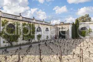 Exterior of a wine cellar in Jerez de la Frontera, Spain