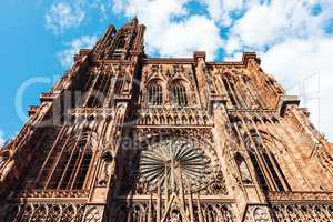 Notre Dame cathedral exterior in Strasbourg
