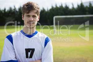 Portrait of Confident male soccer player
