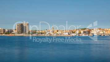 Panoramic picture from a small tourist town in Spain, Palamos, l