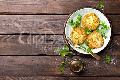 Vegetable zucchini pancakes