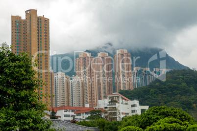 Skyscrapers in Mountainous Hong Kong