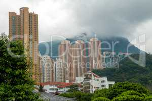Skyscrapers in Mountainous Hong Kong