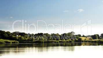 Lake and blue sky