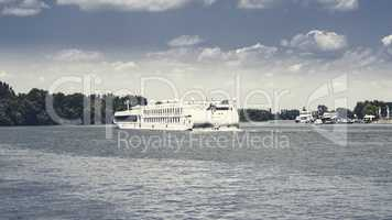 Cruise Ship On The River Danube